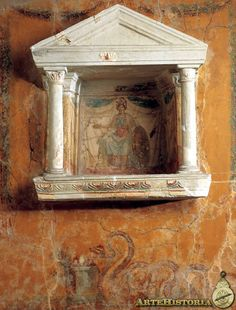 From Villa Carmiano at Castellammare di Stabia (Campania, Italy) Ancient Rome, Ancient Greece, Ancient History, Folk Religion, Roman Gods, Pompeii And Herculaneum, Fresco, Roman History, Minoan