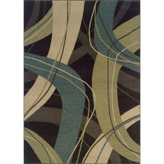 @Overstock - This bold comtemporary design area rug features arcs and lines in shades of beige, green and blue. This rug will really tie your room together.   http://www.overstock.com/Home-Garden/Indoor-Brown-Beige-Contemporary-Area-Rug-78-x-1010/7310492/product.html?CID=214117 $161.99