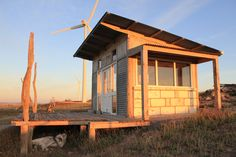 Hut built over 5 years with salvaged materials, overlooking Lake Bonney in the southeast of South Australia. Submitted byHugh Altschwager.