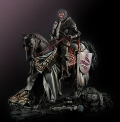 Saint George sculpted by Michael Kontraros