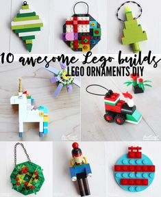 Lego DIY ornaments for this holiday! Doodlecraft: Lego DIY ornaments for this holiday! Lego DIY ornaments for this holiday! Doodlecraft: Lego DIY ornaments for this holiday! Lego Christmas Ornaments, Outdoor Christmas Decorations, Christmas Crafts For Kids, Handmade Christmas, Christmas Fun, Holiday Crafts, White Christmas, Diy Ornaments For Kids, Holiday Decor