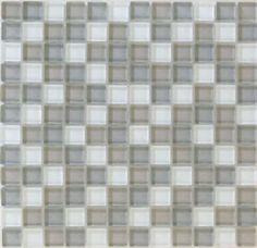 """#Interceramic - Interglass Shimmer Blends Frost 1"""" x 1"""" Mosaic"""