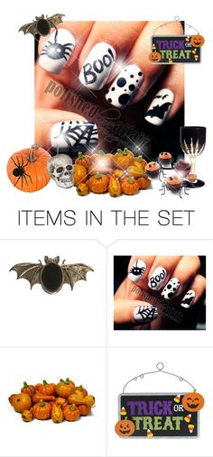 """""""TERRIFIC NAILS !!!!"""" by natural-cloe ❤ liked on Polyvore featuring art and halloween"""