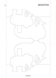 3D pop-up pattern- animals - pippi - Álbumes web de Picasa