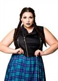 Domino Dollhouse - Plus Size Clothing: Betty Biker Vest in Onyx *Not sure if they are still making this, but just saw similar version at LB. 9/2/2014