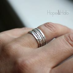 Stacking Rings, Set of 5 Sterling Silver Stackable Rings, Save 15% on 5, 4 Ring Styles to Choose From, Mix, Match & Stack