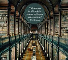 7 Great quotes about libraries on photos of... - Niel Gaiman | Daniel Dalton