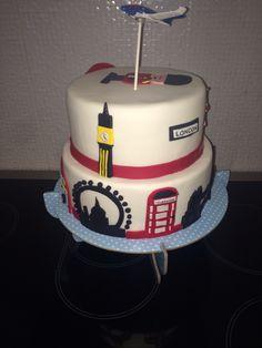 London theme birthday cake Artsy, Birthday Cake, English, Cakes, London, Desserts, Food, Tailgate Desserts, Birthday Cakes