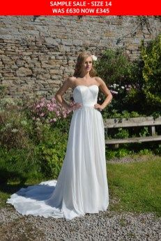 April by Catherine Parry- A Chiffon Chic wedding dress available from Caroline Clark Bridal Boutique, Droitwich, Worcestershire 01905 799 474 Chic Wedding Dresses, Simple Wedding Gowns, Gorgeous Wedding Dress, Wedding Dress Styles, Designer Wedding Dresses, Beautiful Gowns, Bridal Boutique, Bridal Style, Dress Collection