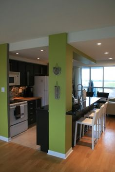 Idea For Half Wall Between Living Room And Kitchen By Sweetdreams