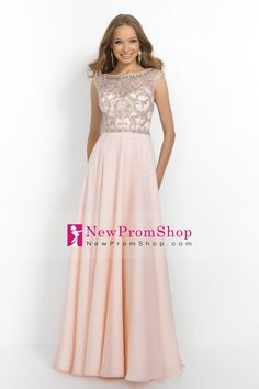 2015 A-Line Beaded tulle Bodice prom dresses open back chiffon