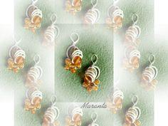 Maranta i frywolitki - kolczyk 3D (drugi) - sposób 1.