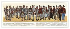 WWI Print of Austro-Hungarian uniforms.