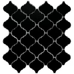 Merola Tile Lantern Black 12-1/2 in. x 12-1/2 in. x 5 mm Porcelain Mosaic Floor and Wall Tile (11 sq. ft. /case)-FKOLB890 at The Home Depot