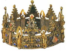 Long called the Crown of St. Louis and thought to have been made in Paris, the Crown of Liège, acquired by the Louvre in 1947, is now known to be a Mosan piece (late 13th century)