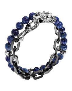 Naga Lapis & Chain Wrap Bracelet, Women's, black - John Hardy