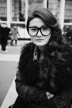 geek chic glasses - Peony Lim