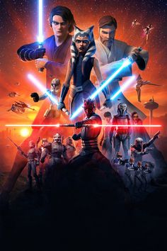 Star Wars: The Clone Wars Season 7 - TextlessPosters Droides Star Wars, Star Wars Fan Art, Star Wars Humor, Star Wars Clones, Images Star Wars, Star Wars Pictures, Star Wars Wallpaper Iphone, Star Wars Backgrounds, Guerra Dos Clones