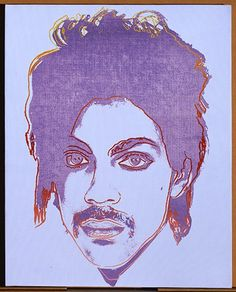 Lilac Prince is owned by the Andy Warhol Museum. Unique painting of Prince from 1984 by Andy Warhol. Liliac Prince one of 12 paintings all different colour. Orange Prince being the most well-known Warhol Paintings, Lynn Goldsmith, Andy Warhol Museum, Iphone Instagram, Unique Paintings, Prince Rogers Nelson, Funky Junk, Rock N Roll, Pop Art