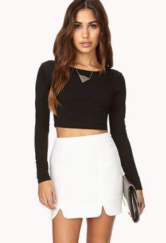 Retro M-Slit Skirt   FOREVER21 Go retro #WishPinWin #ForeverHoliday