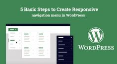 5 Basic Steps to Create #Responsive #NavigationMenu in #WordPress
