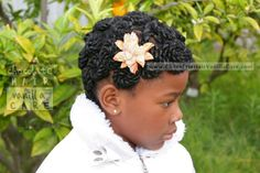 Pinned Yarn Rosettes Up-Do: Easter Hairstyle 2014 | Chocolate Hair / Vanilla Care