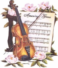 Amazing Grace with Violin and Music art print by Marilyn Rea Images Vintage, Vintage Diy, Vintage Pictures, Vintage Cards, Vintage Paper, Violin Art, Violin Sheet Music, Cello, Saxophone
