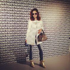 Attending fendi fashion show in Milan 2012-2013