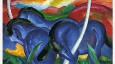 Franz Marc, The Large Blue Horses, 1911 (Wikimedia Commons) (Credit: Wikimedia Commons)