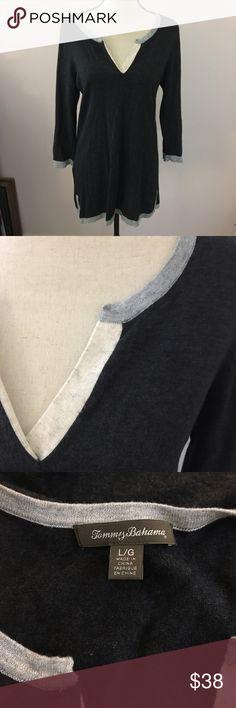 "Tommy Bahama tunic sweater Wool blend, tunic length - 30 1/2"". Tommy Bahama Sweaters V-Necks"