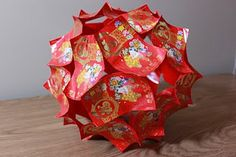 Chinese Paper Lantern tutorial (I've made these before, they are really cute - can be made in different sizes & patterns - used as ornaments, gift toppers, etc.)