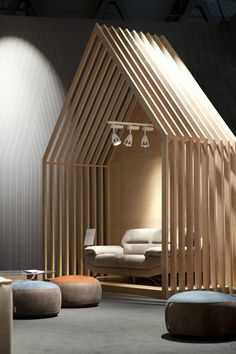 View the full picture gallery of Stand Kermes Interior Design Exhibition, Showroom Design, Exhibition Display, Interior Cladding, Interior Architecture, Deco Spa, Daycare Design, Office Waiting Rooms, Decor Inspiration