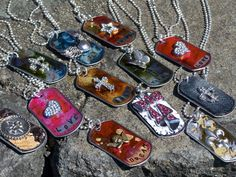 Designer DogTags!  Each one unique just like you.  Handcrafted in my WA state studio. http://www.sarahjaned.com/dogtags.htm