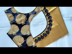 Latest Blouse Neck Designs, Blouse Designs High Neck, Patch Work Blouse Designs, Hand Work Blouse Design, Simple Blouse Designs, Stylish Blouse Design, Blouse Designs Catalogue, Long Dress Design, Designer Blouse Patterns