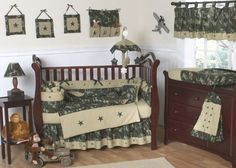 JoJo Designs 9-Piece Baby Crib Bedding Set - Green Camo Military Camouflage Army by JoJo Designs, http://www.amazon.com/dp/B0013T91U2/ref=cm_sw_r_pi_dp_F99Ppb0FH25A0