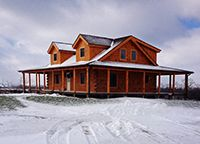 Coventry Log Homes   Our Log Home Designs   Tradesman Series   The Clearwater