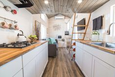 Tiny House Interior - Bunkhouse by Uncharted Tiny Homes