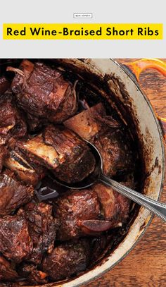Red Wine-Braised Short Ribs Recipe | Bon Appetit
