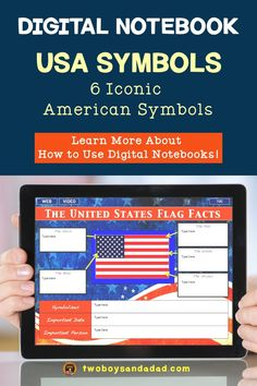 Energize Your Classroom With an Interactive Digital Notebook Part 3 American Symbols, American History, Math Coach, Content Marketing Tools, Rhetorical Question, Thing 1, Text Features, Teaching Resources, Teaching Ideas