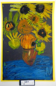 Artistic Freedom: 1st Grade Van Gogh Sunflowers… Lesson On Seeing Color