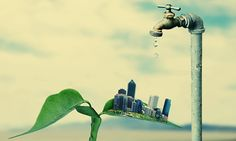 How small could be the world without saving and protecting the environment is part of Save water save life - Photomontage, Save Water Save Life, Save Environment, Save Our Earth, Save Nature, Illustration, Water Conservation, Environmental Art, Go Green