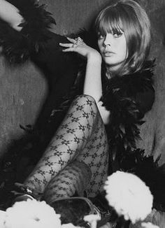 Britt Ekland in the Swinging Sixties ... love the tights!