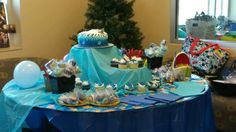 Shark sweets table