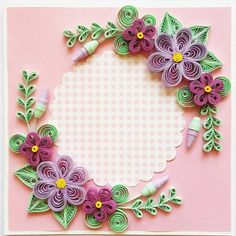 19 Quick Paper Quilling Ideas For Beginners Paper Quilling Flowers, Paper Quilling Cards, Neli Quilling, Paper Quilling Patterns, Quilled Paper Art, Quilling Paper Craft, Paper Crafts, Quilling Birthday Cards, Flower Birthday Cards