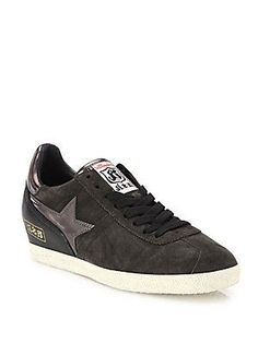 Ash Guepard Lace-Up Leather Sneakers - Bistro - Size