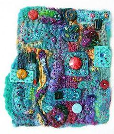 fabric collage textile art