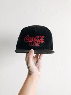 14cf7f0a Coca Cola Classic Hat VTG 80s Rare Soda Memorabilia Snapback Vintage Pop  Culture Corduroy Cap Coke