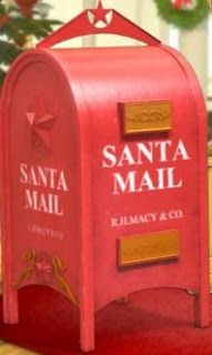 Have your kids write a letter to Santa, then send it in Macy's Red Postal Box located in stores for a good cause~~~>https://goo.gl/mbywP9