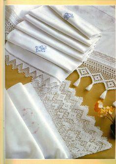 REGINA RECEITAS DE CROCHE E AFINS: barras largas para toalhas de mesas e colchas em linhos.
