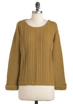 Good Company Sweater in Gold, #ModCloth